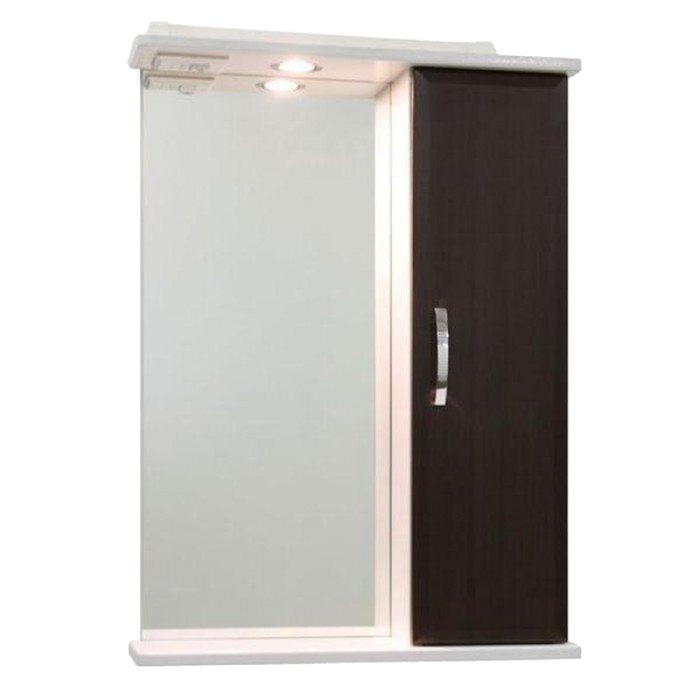 Шкаф-Зеркало Колумбия 55 см Венге, правое