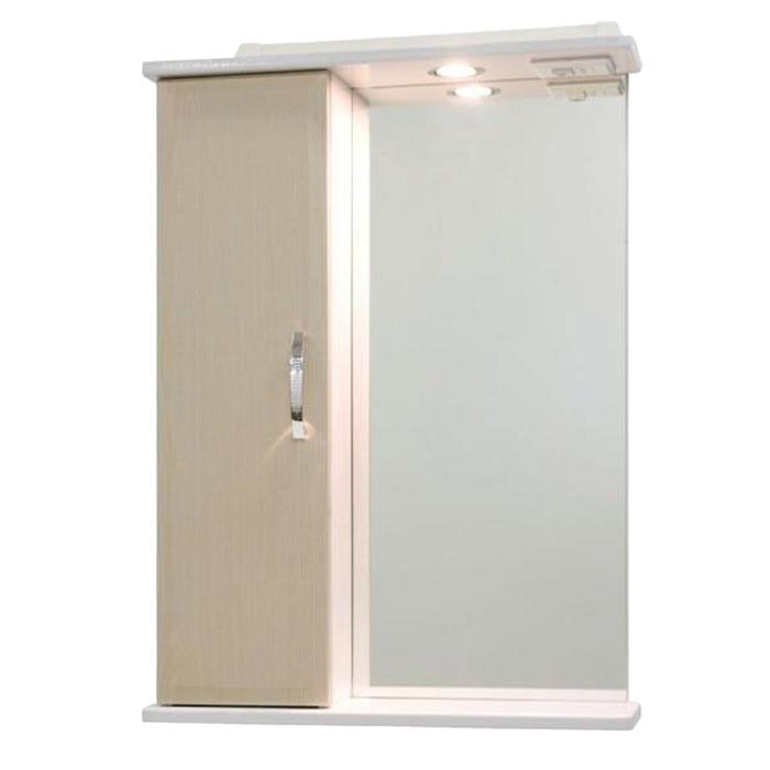 Шкаф-Зеркало Колумбия 55 см Дуб, левое