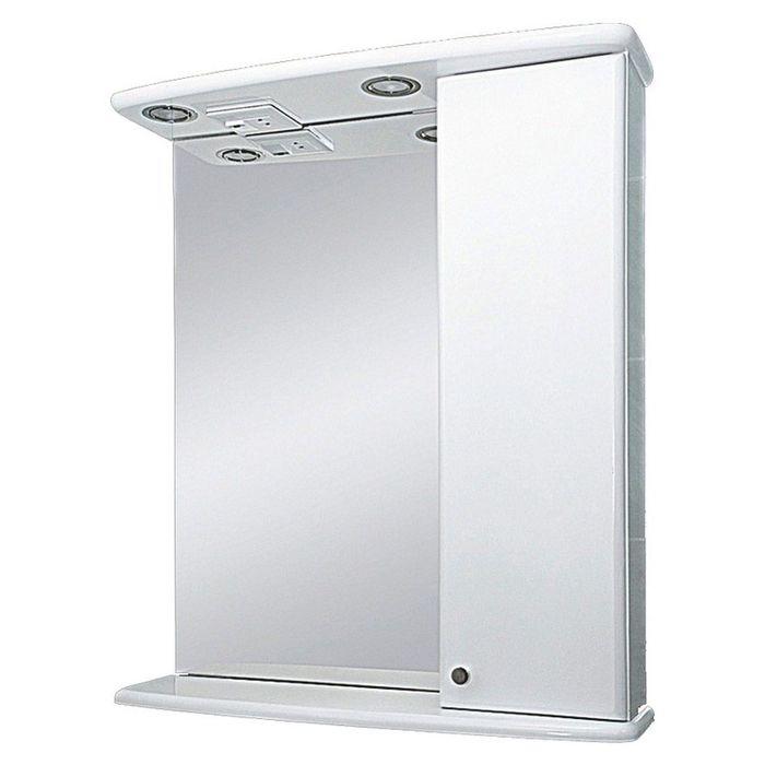 """Шкаф-зеркало Misty """"Астра-50"""", с подсветкой, правый"""