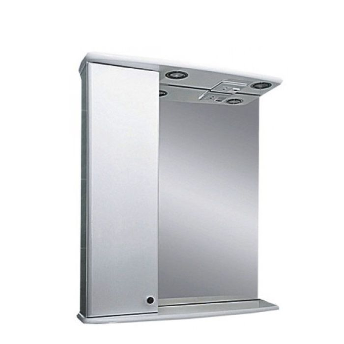 "Шкаф-зеркало Misty ""Астра-50"", с подсветкой, левый"