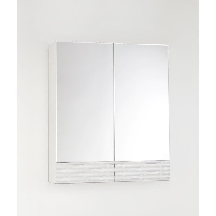 Зеркало-шкаф Ассоль 60, Люкс техно платина