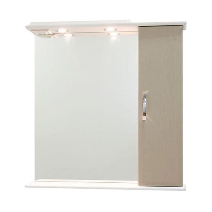 Шкаф-зеркало Колумбия 75 см Дуб, правое