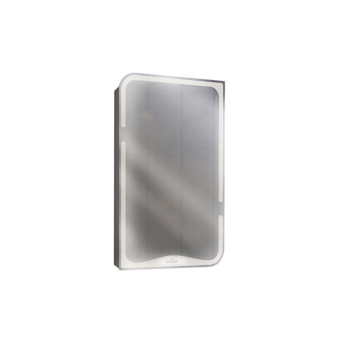 "Зеркало ""Basic"" со шкафчиком, без подсветки, цвет белый"