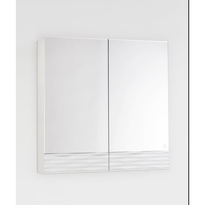Зеркало-шкаф Ассоль 70, Люкс техно платина