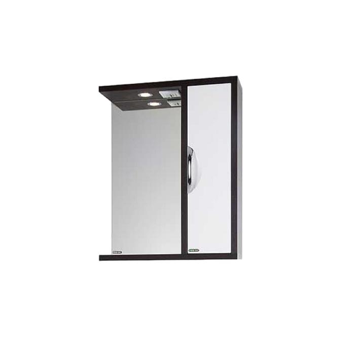 Шкаф-зеркало Габи 60 см Венге-К/Белый-Ф, правое