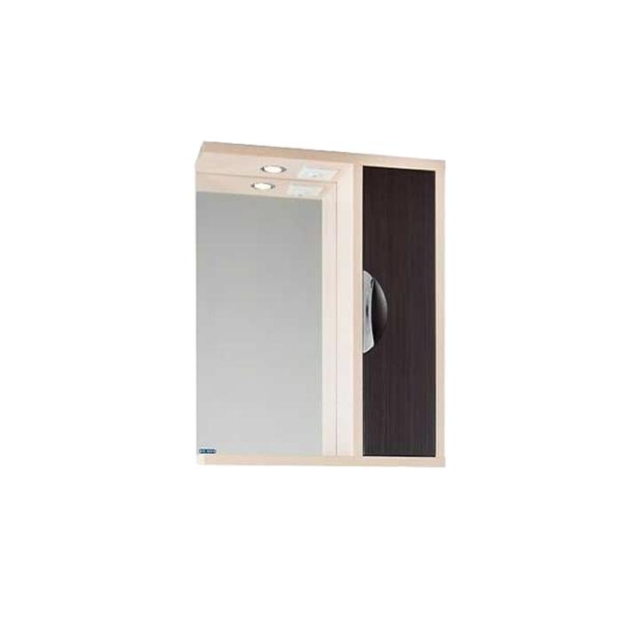 Шкаф-зеркало Габи 60 см Дуб-К/Венге-Ф, правое