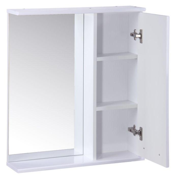"Зеркало-шкаф ""Квадро"", 60 х 15,4 х 70 см, белый глянец"