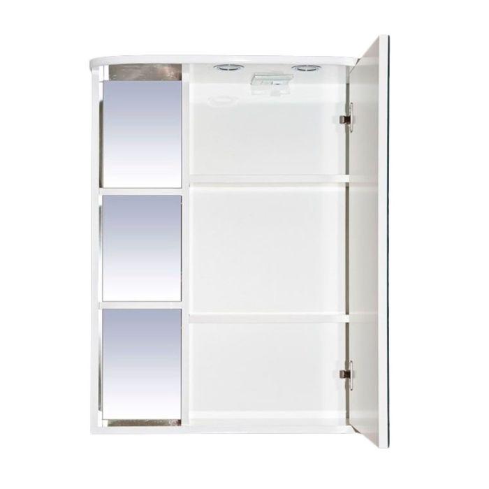 """Шкаф-зеркало Misty """"Венера 60"""", правый, белый, со подсветкой"""
