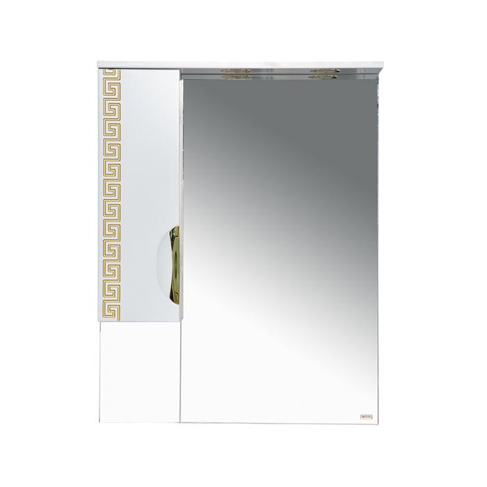 Шкаф-зеркало Престиж - 70 левое золотая патина