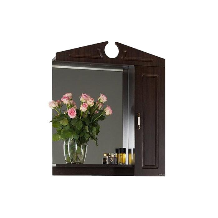 Шкаф-Зеркало Капри 75 см Венге, правое