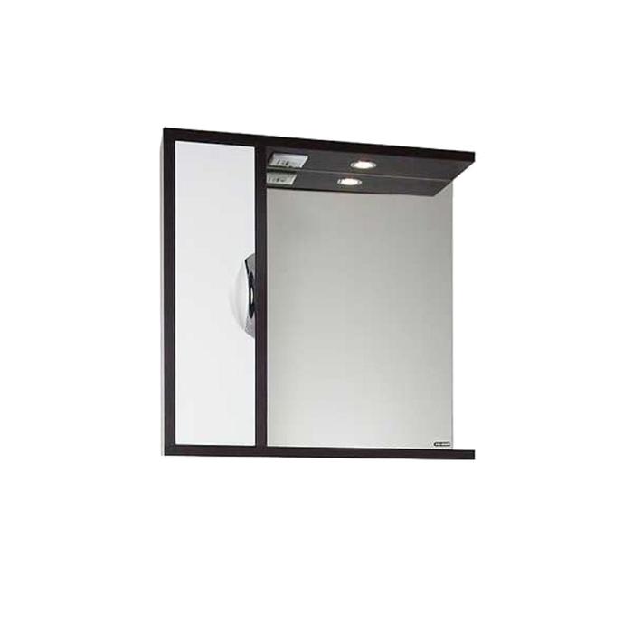 Шкаф-зеркало Габи 75 см Венге-К/Белый-Ф, левое