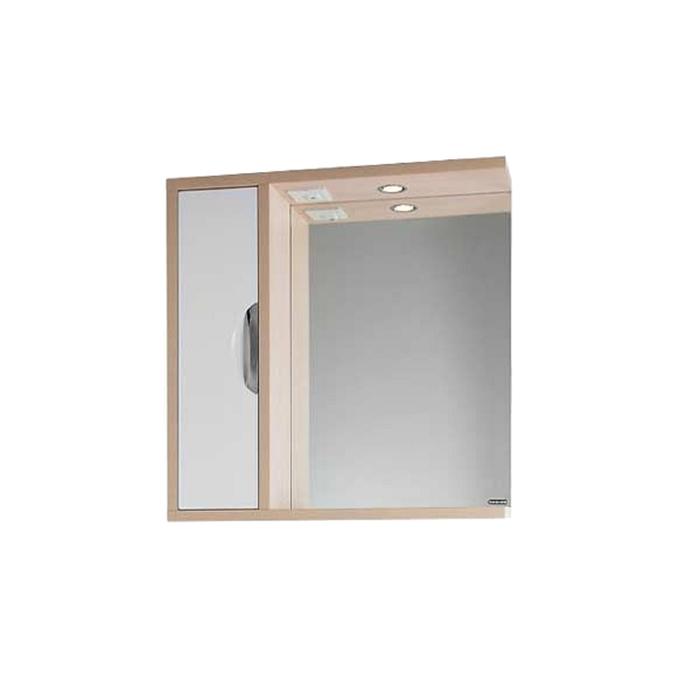 Шкаф-зеркало Габи 75 см Дуб-К/Белый-Ф, левое