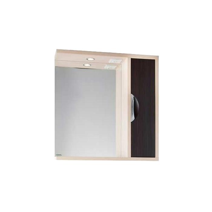 Шкаф-зеркало Габи 75 см Дуб-К/Венге-Ф, правое
