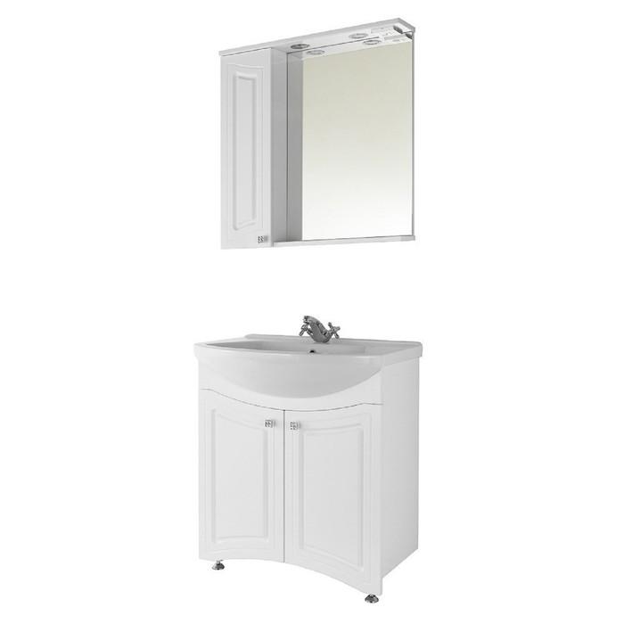 Зеркало-шкаф Адам 65 см Белое, левое