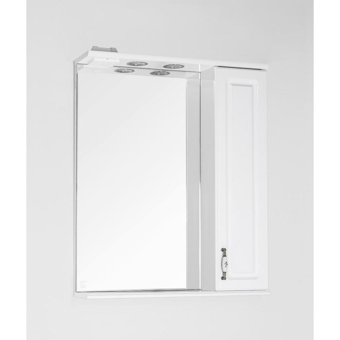 Зеркало-шкаф Олеандр-2 65/С, белый