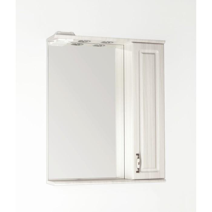 Зеркало-шкаф Олеандр-2 65/С, рельеф пастель