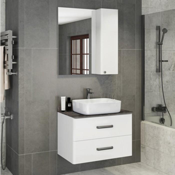 Зеркало-шкаф COMFORTY «Амстердам-75» белый