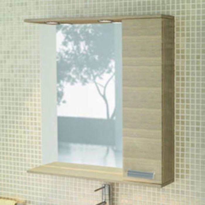 """Зеркало-шкаф для ванной """"Марио-90"""" 83,2 х 90 х 15,5 см, цвет сосна лоредо"""