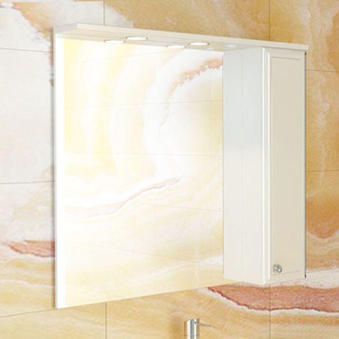 "Зеркало-шкаф для ванной ""Сочи-85"" 81,6 х 84 х 15,5 см, белый"