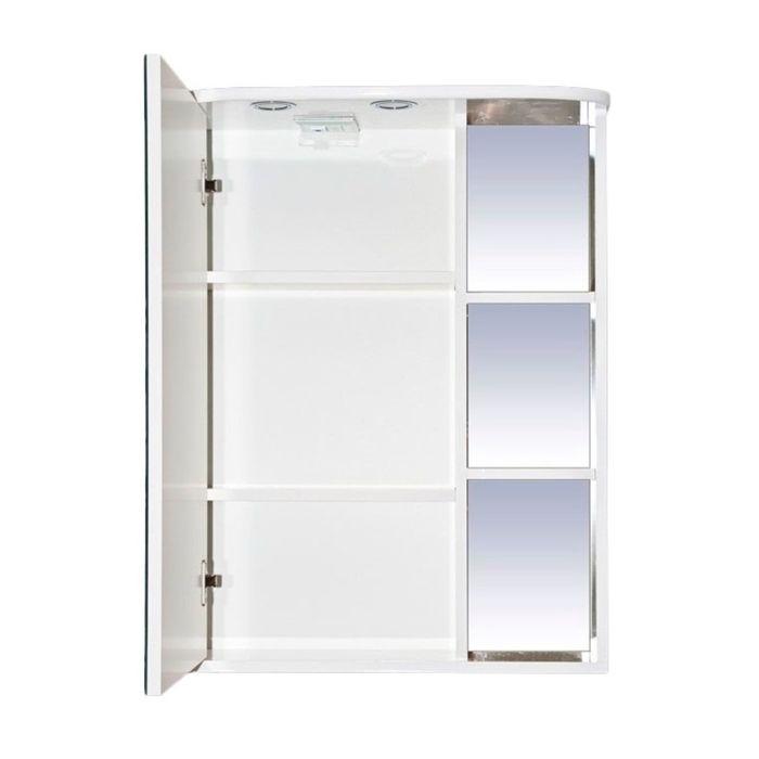 """Шкаф-зеркало Misty """"Венера 70"""", левый, белый, со подсветкой"""