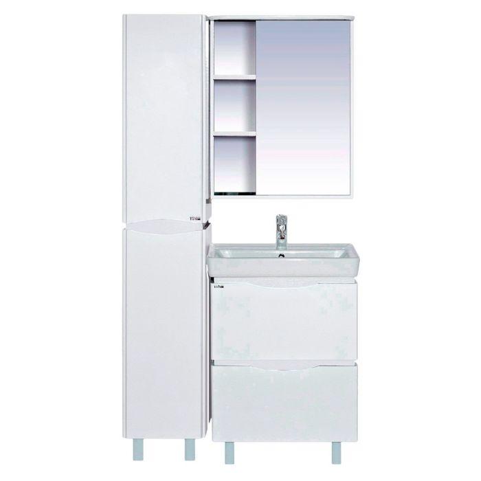 """Шкаф-зеркало Misty """"Венера 70"""", правый, комбинированный, со подсветкой"""