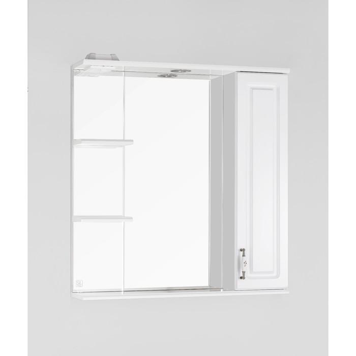 Зеркало-шкаф Олеандр-2 75/С, белый