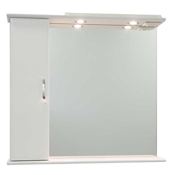 Шкаф-зеркало Колумбия 95 см Белое