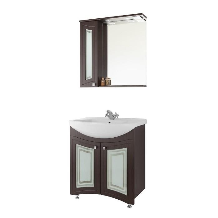 Зеркало-шкаф Адам 65 см Венге, левое - Стекло