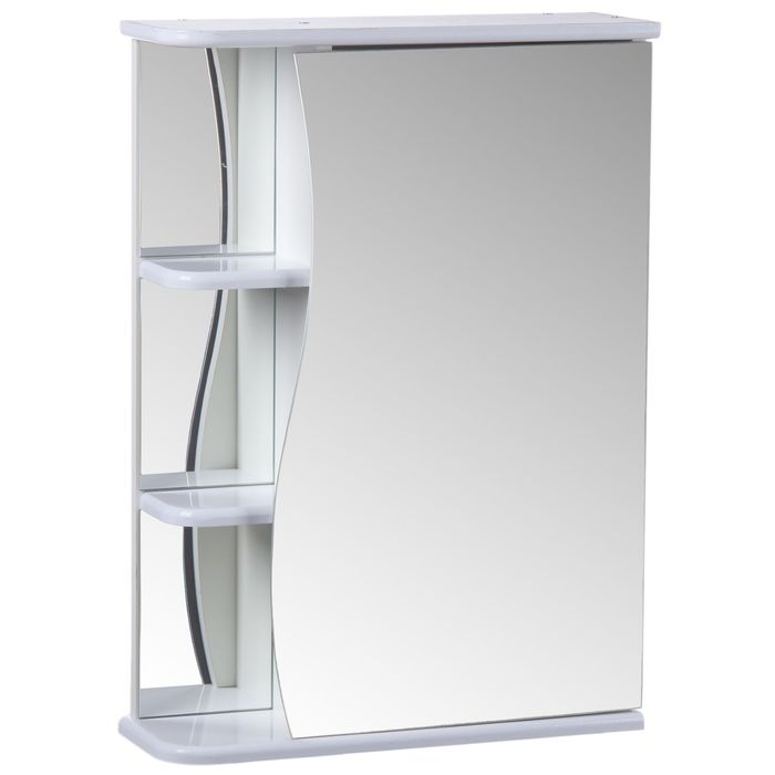 "Зеркало-шкаф ""Тура"", с тремя полками, 55 х 15,4 х 70 см"