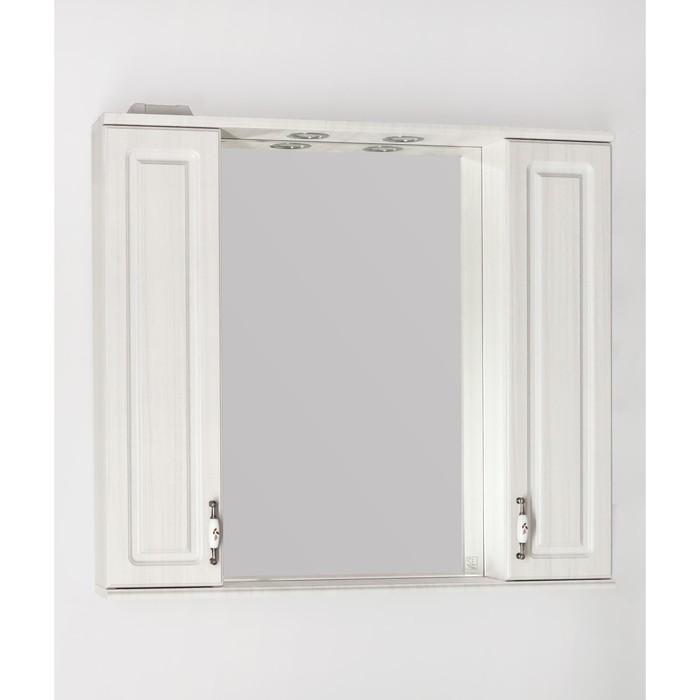 Зеркало-шкаф Олеандр-2 90/С, рельеф пастель