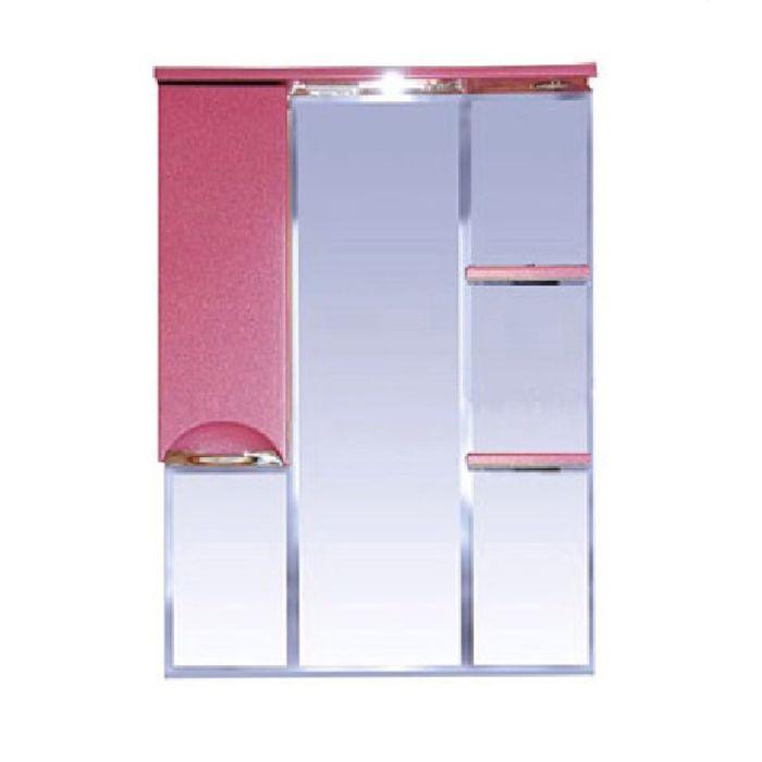 "Зеркало Misty ""Жасмин 75"", левое, розовая плёнка, с подсветкой"