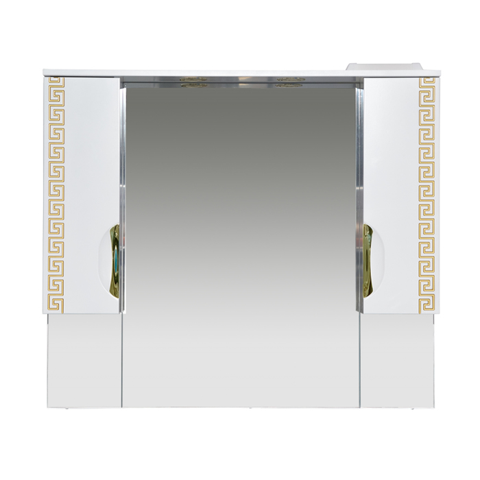 Шкаф-зеркало Престиж -105 золотая патина