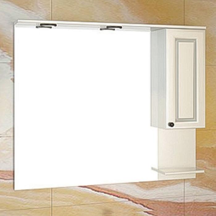 """Зеркало-шкаф """"Севилья-100"""" слоновая кость"""