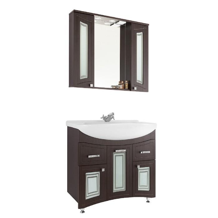 Зеркало-шкаф Адам 90 см Венге - Стекло