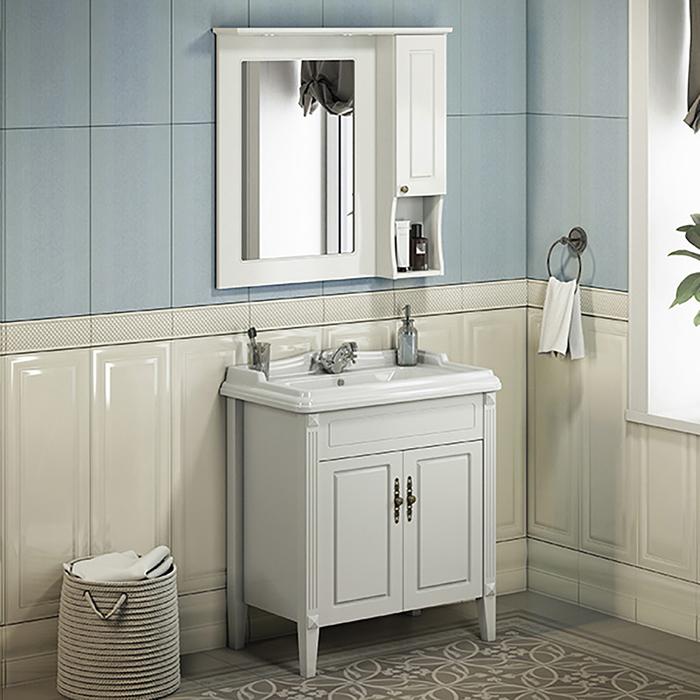 "Зеркало-шкаф Comforty ""Палермо-80"" белый"