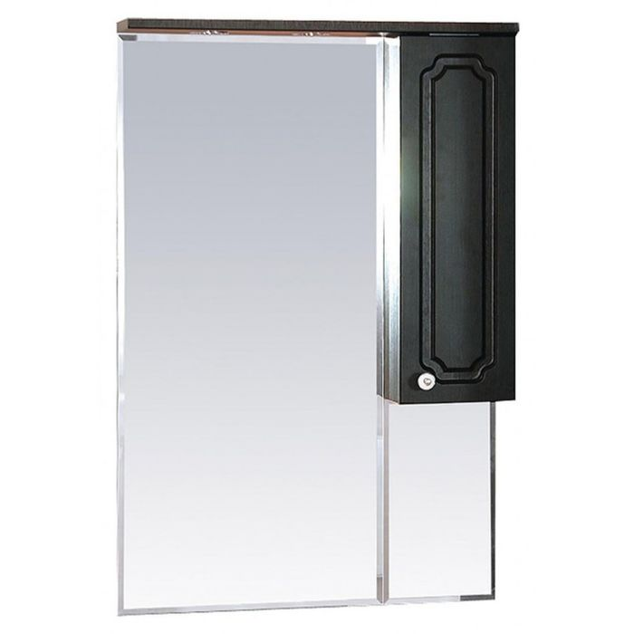 "Шкаф-зеркало Misty ""Александра 65"", правый, с подсветкой, цвет венге"
