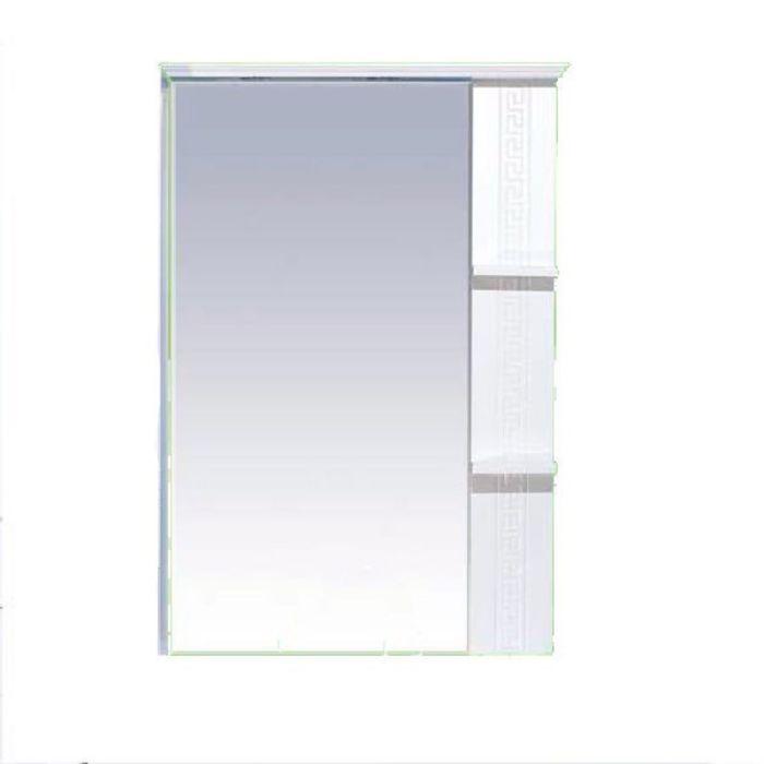 """Зеркало Misty """"Олимпия 75"""", правое, белое фактурное"""