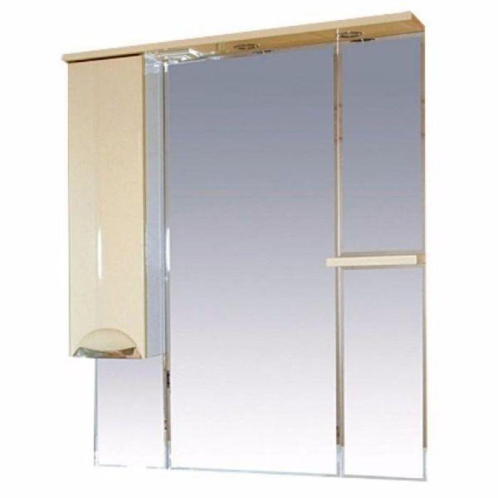 """Шкаф-зеркало Misty """"Кристи 90"""", левый, с подсветкой, бежевый"""