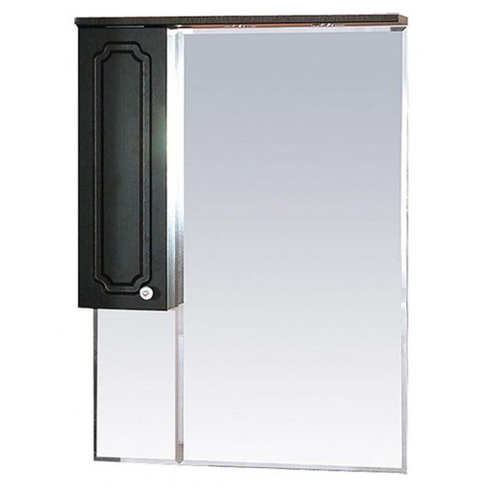 """Шкаф-зеркало Misty """"Александра 75"""", левый, с подсветкой, цвет венге"""