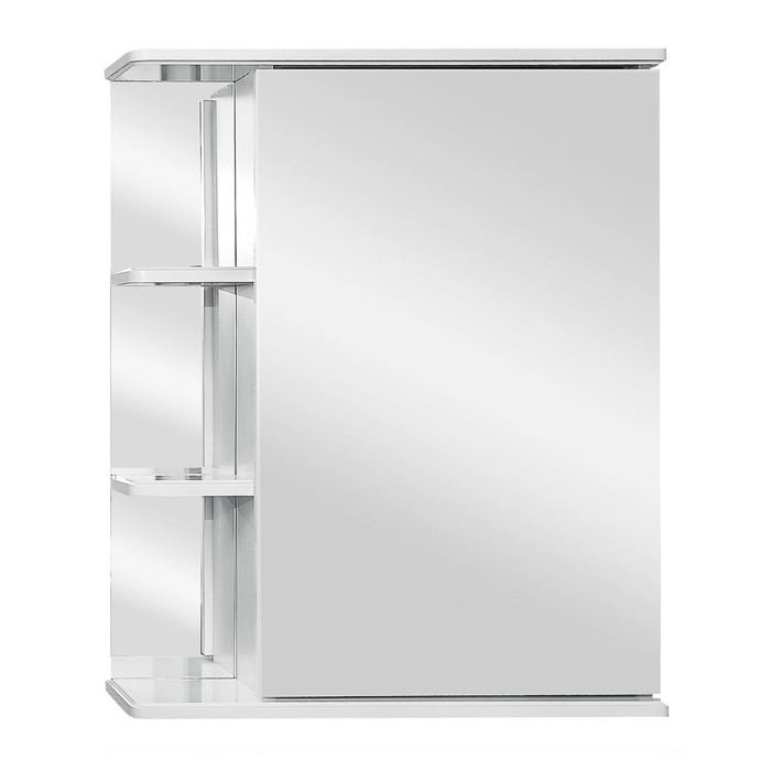 """Зеркало-шкаф """"Ника 600"""" фацет правое"""