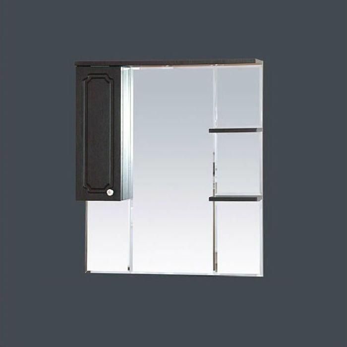 """Шкаф-зеркало Misty """"Александра 85"""", левый, с подсветкой, цвет венге"""