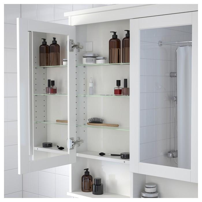 Зеркальный шкаф ХЕМНЭС 2 дверцы, белый
