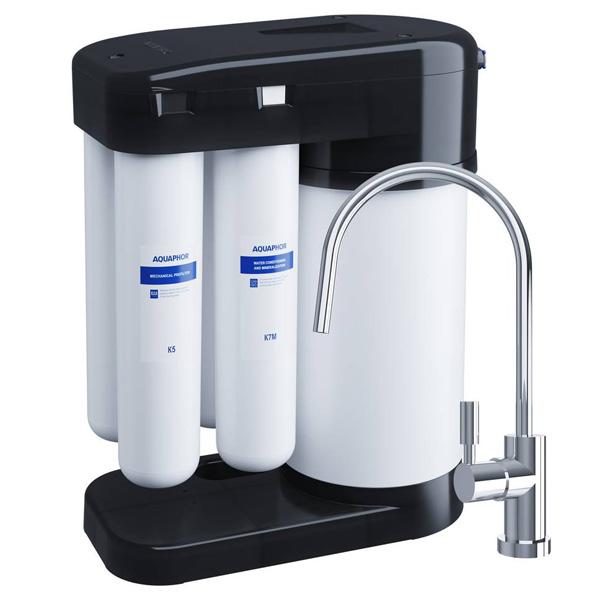 Автомат питьевой воды Аквафор DWM-102 S Морион (Black Edition)