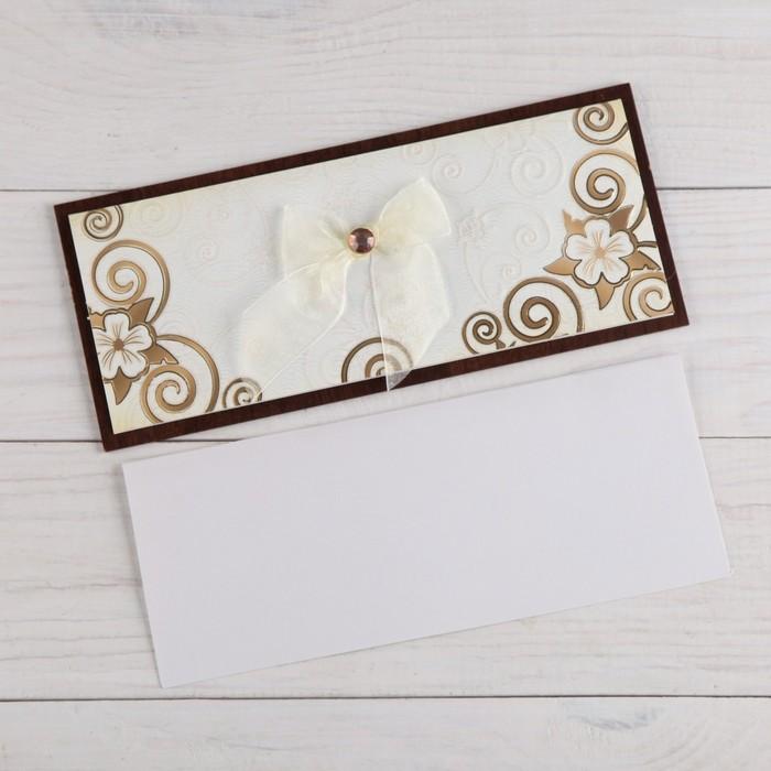 """Деревянная открытка """"Универсальная"""" накладные элементы, конгрев, бантик"""