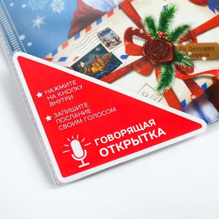 Говорящая открытка «Послание от Деда Мороза», 15 × 21 см, запись 30 сек.