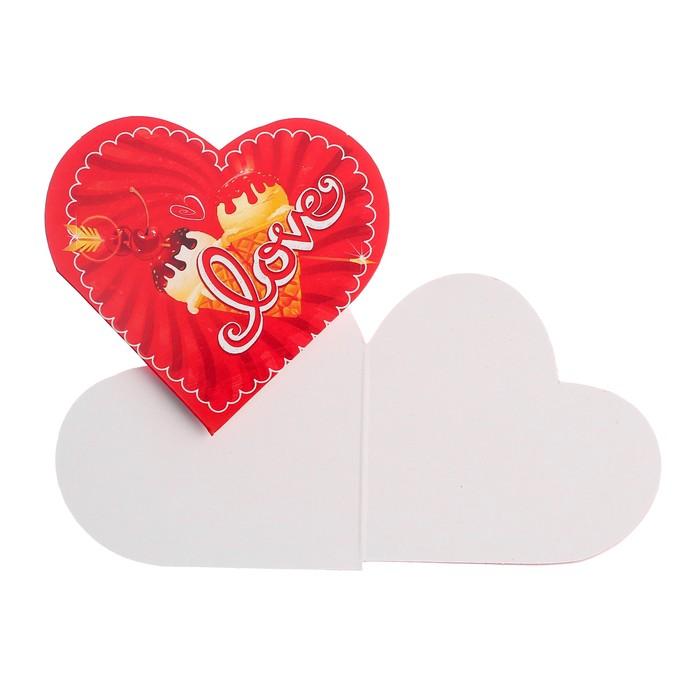 """Открытка-валентинка """"Love"""" мороженое"""