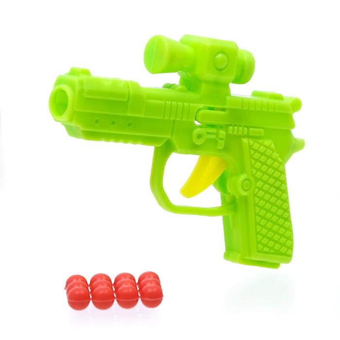 """Пистолет механический """"Малыш"""", стреляет шариками, МИКС"""