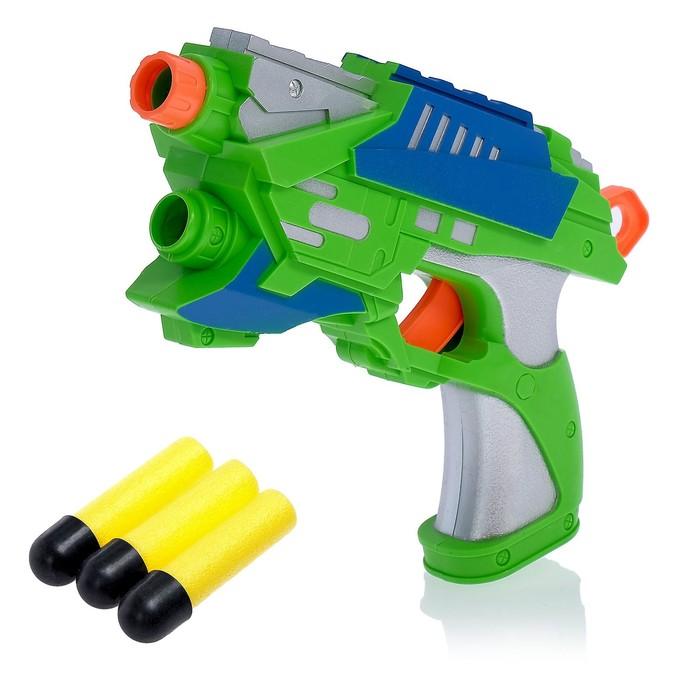 Пистолет «Воин», стреляет мягкими пулями, цвета МИКС