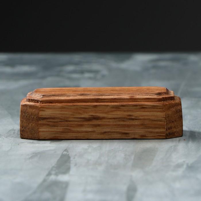 Подставка-подиум деревянная, 70 х 30 х 20 мм, массив дуба