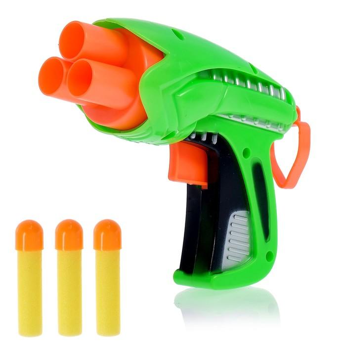 Пистолет «Защитник» стреляет мягкими пулями, цвета МИКС